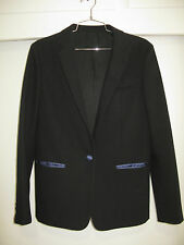 CELINE PHOEBE PHILO BLACK BLAZER JACKET 38 LINED DETAILED TRIM $2900