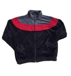 80s Vintage Pierre Cardin Color Block Track Jacket Full Zip Red Black Size XL