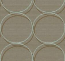 Wallpaper Designer Van Luit Large Brown and Light Blue Circles on Faux