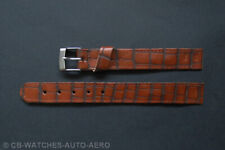 Quality Brown Croc Grain Leather Vintage Style Open-Ended Watch Strap 10mm-20mm