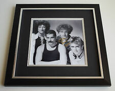 John Deacon SIGNED Framed LARGE Square Photo Autograph display Queen AFTAL & COA