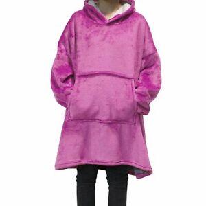 Winter Warm Hooded Blanket Sofa Cozy Coral Fleece Hoodie Blanket Comfy Bathrobe