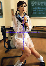 CUTE JAPANESE GIRL, TRANSPARENT SEE-THROUGH DRESS, WHITE PANTIES LARGE PHOTO J-6