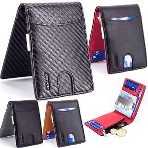 Geldbörse Herren Kleine Geldbeutel Brieftasche Portemonnaie Slim RFID Schutz Zip