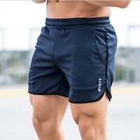 Men Casual Fitness Drawsting Gym Bodybuilding Jogger Workout Shorts Trousers