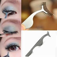 Beauty Makeup False Eyelashes Extension Applicator Remover Clip Tweezer Nipper