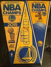 3 New 2015 Golden State Warriors Felt Pennants NBA Championship Champs