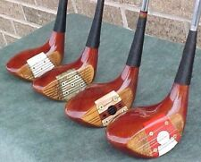 PERSIMMON Macgregor Tourney Mixed Set Golf Clubs Woods Driver 2 3 4 New Grips