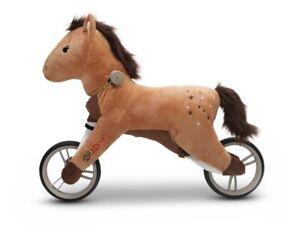 Laufrad Kind Pferde -Style, Fahrrad, Alu, Plüschpferd Schaukelpferd
