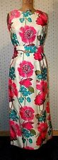 1960S SILK GOWN DOROTHY COX DESIGNER WIGGLE FIT EVENING WEAR VINTAGE CLOTHING 36