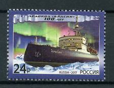 Russia 2017 MNH Krassin Icebreaker 1v Set Boats Ships Nautical Stamps