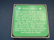 Irish coffee recipe coaster set  of six Irish heritage collection by Pimpernel