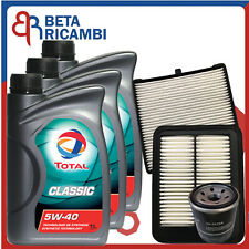 Kit Tagliando Hyundai I10 1.1 Benzina Gpl Dal 2007 al 2013 Filtri + 3 Olio 5W40