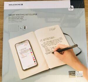 New Sealed Moleskine Smart Pen Writing Set Ellipse: Pen+ Ellipse & Paper Tablet