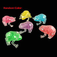 Autism Squeeze Sensory Toy Gel Bead Filled Transparent Frog Anti Stress Ball New
