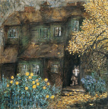 Tale of Tales Y.Norstein's /Norshteyn Signed Giclée (Little Wolf & Old House)