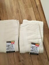 TOWELS - 2 BATH SHEETS BNWT