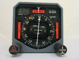 Collins 331A-6P Course Indicator PN 787-6385-002 removed from a flying Lear 35