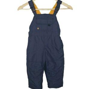 Osh Kosh Snow Bib 2T Overall Blue Nylon Insulated Toddler Rainproof Blue/Yellow