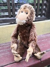 "VTG 1950's SCHUCO TRICKY MONKEY YES-NO MECHANICAL APE 18"" WORKS"