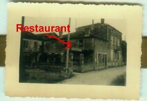 3 x Foto Soldaten Restaurant  St. AMANT de BOIXE / Nouvelle FRANKREICH 1941 F379