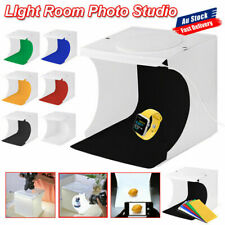 9Pc Photo Studio Light Room Photography USB LED Lighting Tent Backdrop Cube Box