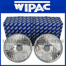 7 INCH CRYSTAL CLEAR HEADLIGHTS (PAIR) WIPAC (NO PILOT) FREEFORM S6071