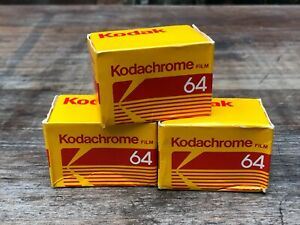 3 x 35mm roll film - Kodachrome 64 sealed, expired - dated 1988
