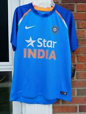NIKE 2017 Star India Cricket Team Blue Jersey ICC World Cup Mens SZM Dri Fit
