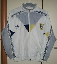 SCOTLAND 1990-1992 UMBRO HOME FOOTBALL SOCCER TRACK JACKET