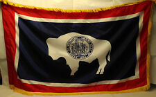 Wyoming  State Flag     US Army issue parade flag    est. 5' x 3'   used