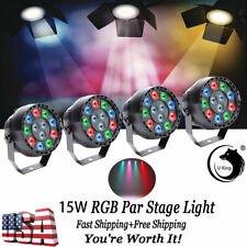 4PCS 12 LED 15W RGBW Par Stage Light DMX Disco Strobe Wedding DJ Party Room