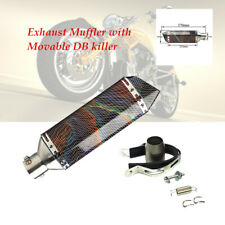 1pcs Motorcycle Stainless Exhaust Muffler Pipe Movable DB killer Modified Parts