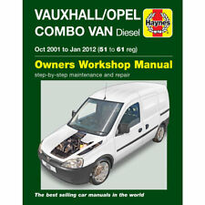 Vauxhall Combo 1.3 1.7 Turbo Diesel Oct 2001-Jan 2012 Haynes Workshop Manual