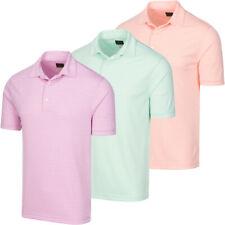 Greg Norman Golf Men's Protek Oxford Micro Stripe Polo Shirt