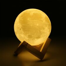 3D Moon Lamp Touch Control  USB Rechargeable Desk Lamp Moon Lamp Table Lamp