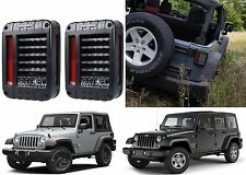 Custom LED Tail Lights For 2007-2017 Jeep Wrangler JK New Free Shipping USA