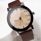 Women's Letters Fashion Watches Ladies Leather Band Analog Quartz Wrist Watches