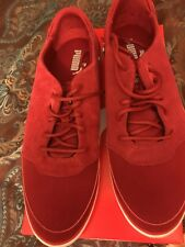 Men's Puma Vulcanised Ferrari Sneakers, New Burgundy Sport Walking Shoes 10.5
