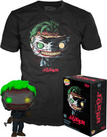 Batman Death of the Family Glow GITD Funko Pop Vinyl + T-shirt New in Sealed Box