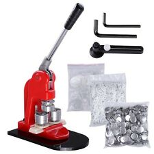 "1"" 25mm Button Maker Badge Punch Press Machine Free 1000 Parts and Circle Cutter"
