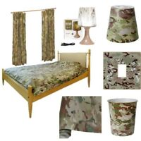 BOYS ARMY CAMO BEDROOM WALLPAPER CURTAINS DUVET COVER LAMP BIN LIGHT SHADE MTP