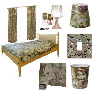 Garçons Armée Chambre Enfants Camouflage Literie Papier Peint Rideaux Bin Phare