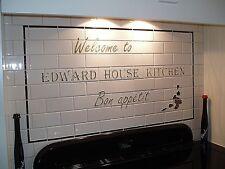 Bespoke Tubelined Ceramic Kitchen / Aga / Bathroom Tiles for Splashback