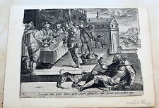 GRAVURE 16° Martin de Vos 1580