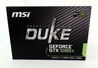 ORIGINAL BOX for MSI Duke Nvidia GTX 1080 Ti w/ Accessories