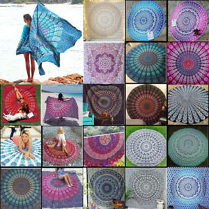 Mandala Wall Hanging Indian Tapestry Bohemian Bedspread Print Mat Outdoor Cover