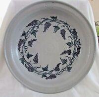 "SALMON FALLS STONEWARE POTTERY Pasta Platter, Grapevine Pattern, 14"", 2002"