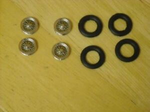 """1/43rd scale chrome wire wheels by K&R Replicas for cars with 16"""" wheels"""