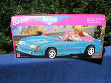 Barbie Ford Mustang Convertible Blue & Pink~Mattel 1998~New